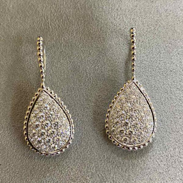 Серьги Boucheron, белое золото, бриллианты