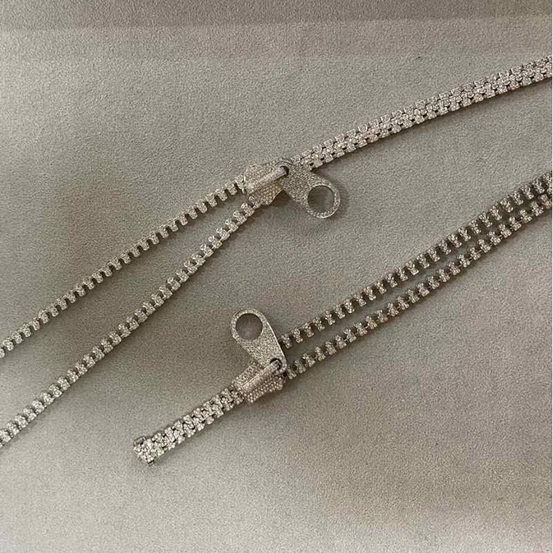 Набор Crivelli, колье и браслет, белое золото, бриллианты