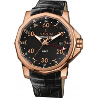 Corum watches Admiral`s Cup GMT 44 Red Gold Black Dial