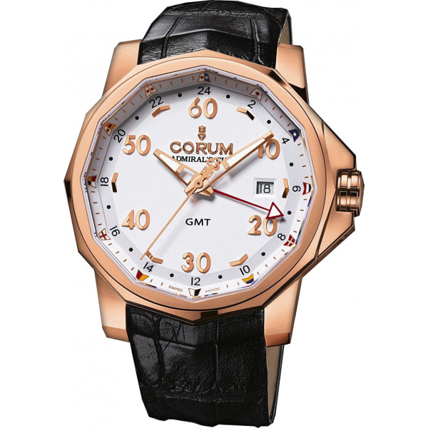 Corum watches Admiral`s Cup GMT 44 Red Gold