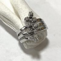 Кольцо Chimento, белое золото, бриллианты