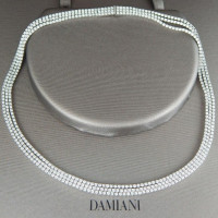 Колье Damiani, белое золото, бриллианты 12ct