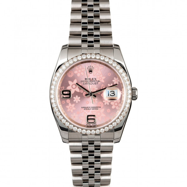 Rolex Floral Datejust Diamond Bezel