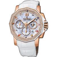 Corum watches Admiral Cup Chronograph 40 diamonds White