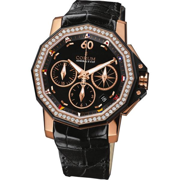 Corum watches Admiral Cup Chronograph 40 diamonds