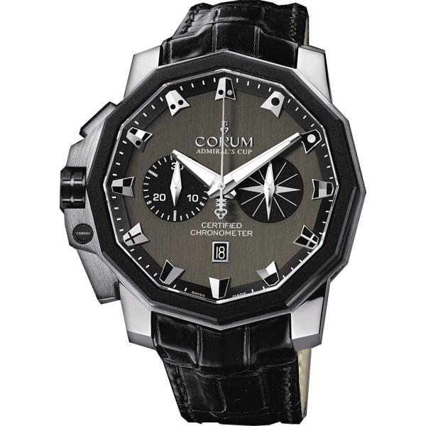 Corum watches Admiral`s Cup Chronograph 50 LHS Platinium
