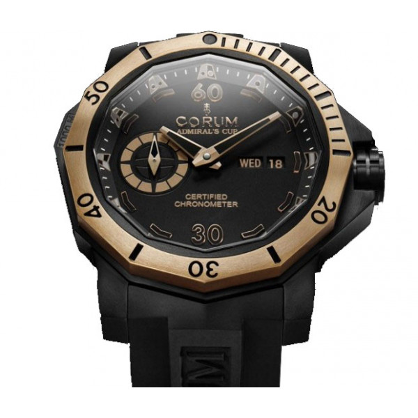 Corum watches Seafender 48 Deep Dive with red gold bezel Limited Edition 100