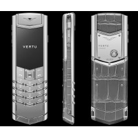 Vertu Signature S Design White Gold Sapphire Alligator