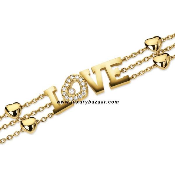 Chopard Happy Diamonds LOVE Floating Diamond Yellow Gold Bracelet