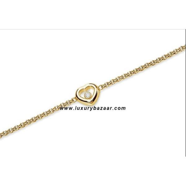 Chopard Happy Diamonds Heart Floating Diamond Yellow Gold Bracelet