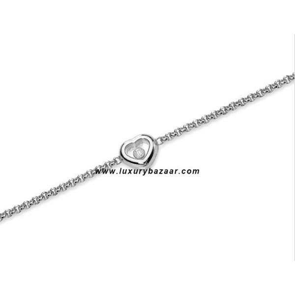 Chopard Happy Diamonds Heart Floating Diamond White Gold Bracelet