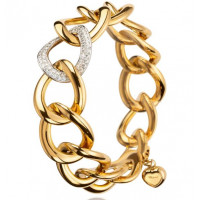 Chopard Les Chaines Bracelet in 18K White and Rose Gold and Diamonds