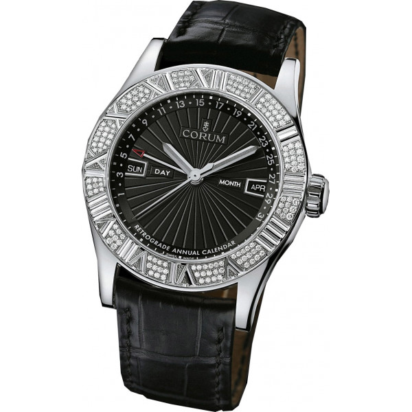 Corum watches Romvlvs Retrograde Annual Calendar WG Diamonds Limited 90