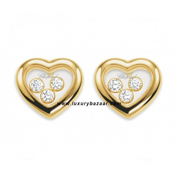 Chopard Happy Diamonds Heart 3 Floating Diamonds Yellow Gold 19