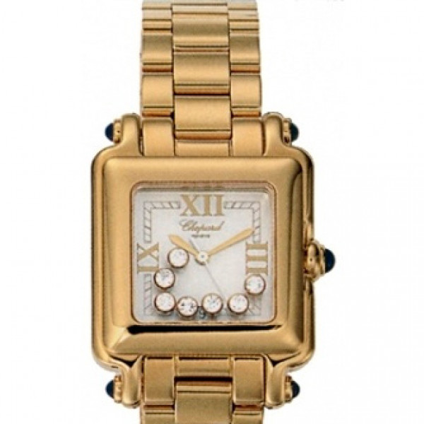 Chopard watches Happy Sport Classic Square 7 Floating Diamonds
