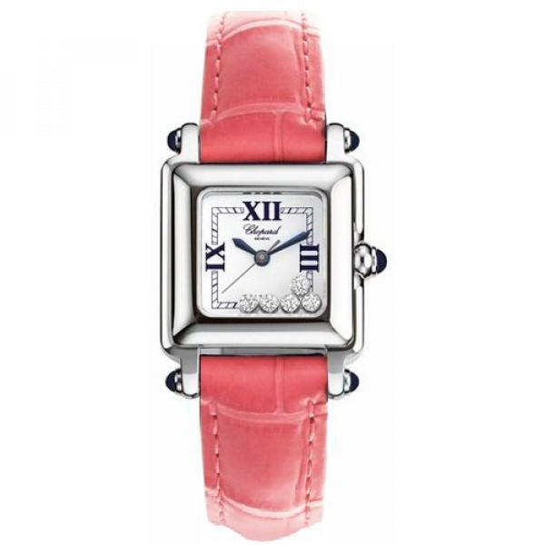 Chopard watches Happy Sport Classic Square 5 Floating Diamonds