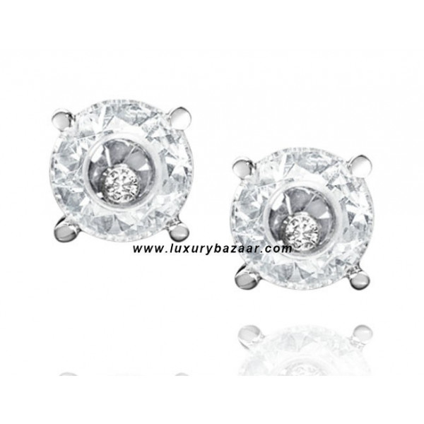 Chopard So Happy White Stone Floating Diamond White Gold Earrings