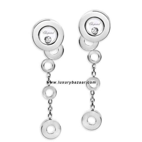 Chopard Happy Diamonds Drop Circles Floating Diamond White Gold 24