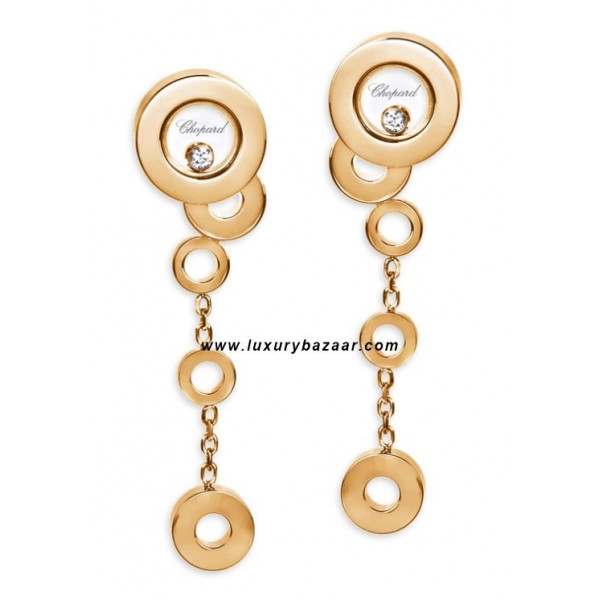 Chopard Happy Diamonds Drop Circles Floating Diamond Rose Gold 26