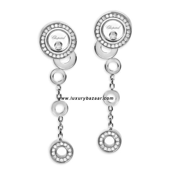 Chopard Happy Diamonds Drop Circles Floating Diamond Set White 25