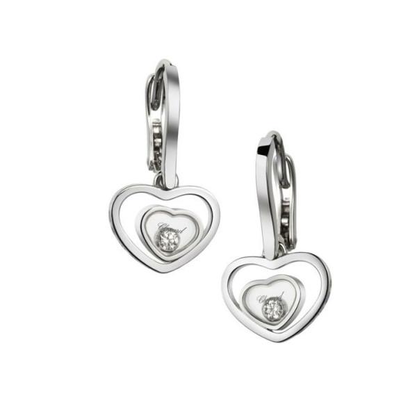 Chopard Happy Diamonds Hearts 18K White Gold Earrings