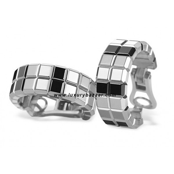 Chopard Ice Cube 2 Rows White Gold Earrings