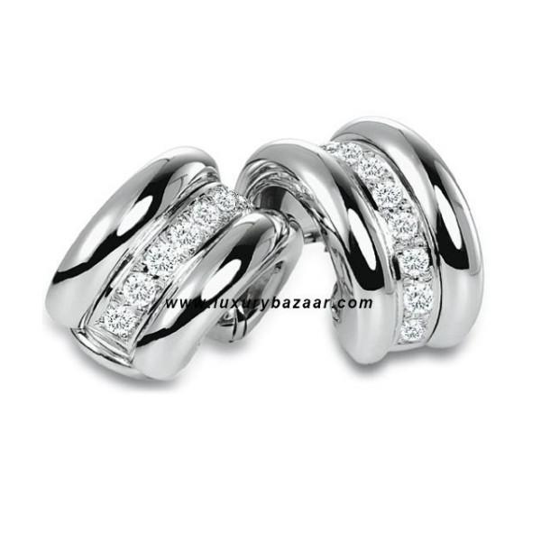 Chopard La Strada Diamond Set White Gold Earrings