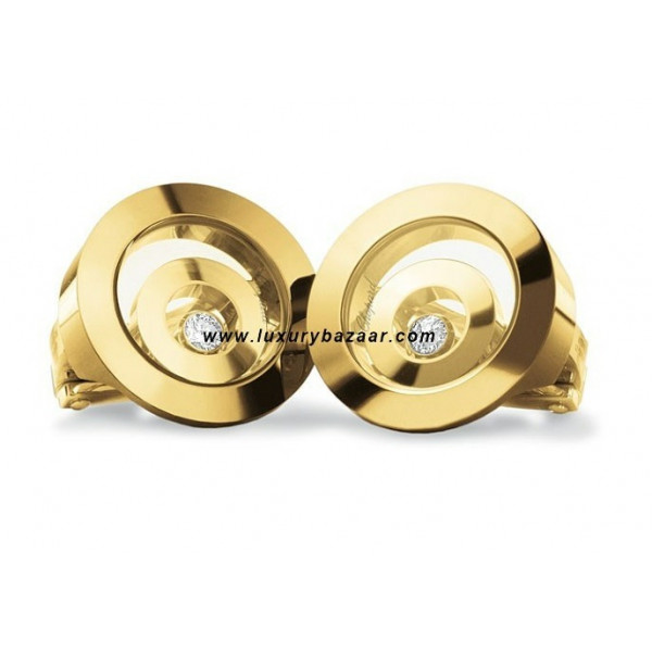 Chopard Happy Spirit Floating Ring Earrings Yellow Gold