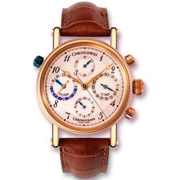 Chronoswiss watches Tora Chronograph CH 7421 R Brown