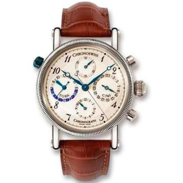 Chronoswiss watches Tora Chronograph CH 7421 W Brown