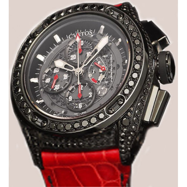 Cvstos watches Challenge-R50 Chrono Black Steel Black Diamond