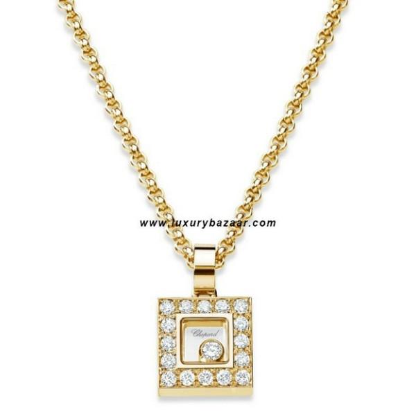 Chopard Happy Diamonds Square Floating Diamond Set Yellow Gold 40