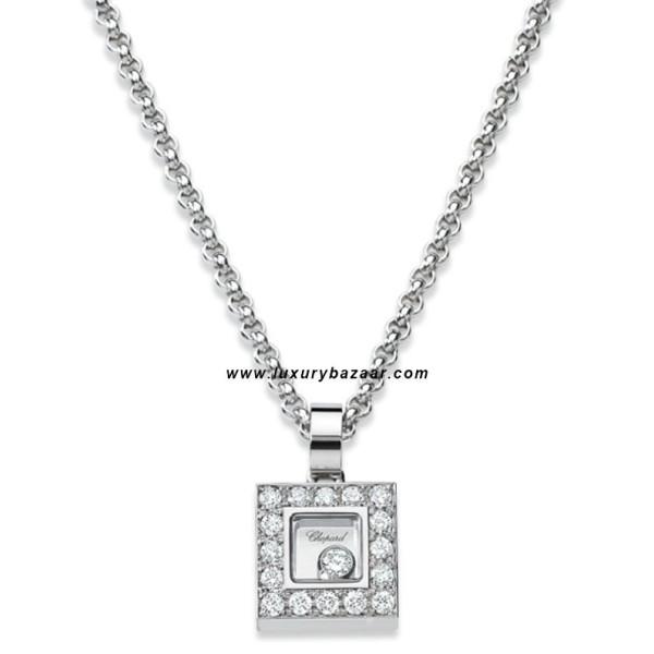 Chopard Happy Diamonds Square Floating Diamond Set White 39
