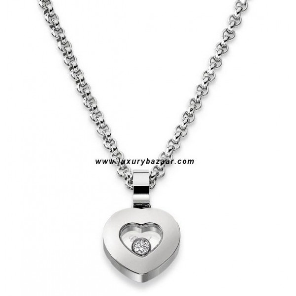 Chopard Happy Diamonds Heart Floating Diamond White Gold Necklace