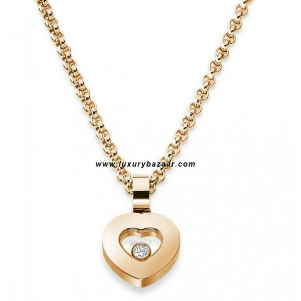 Chopard Happy Diamonds Heart Floating Diamond Rose Gold Necklace