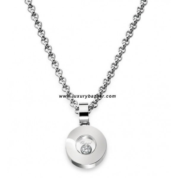 Chopard Happy Diamonds Circle Floating Diamond White Gold Necklace