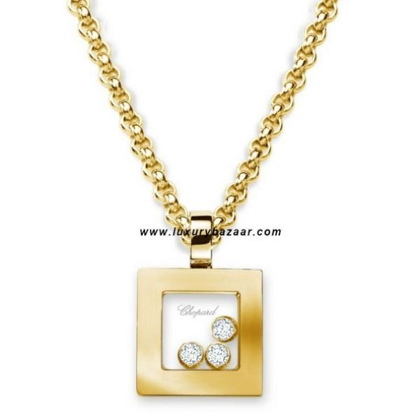 Chopard Happy Diamonds Square 3 Floating Diamonds Yellow 36