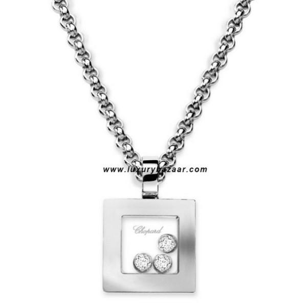 Chopard Happy Diamonds Square 3 Floating Diamonds White 37