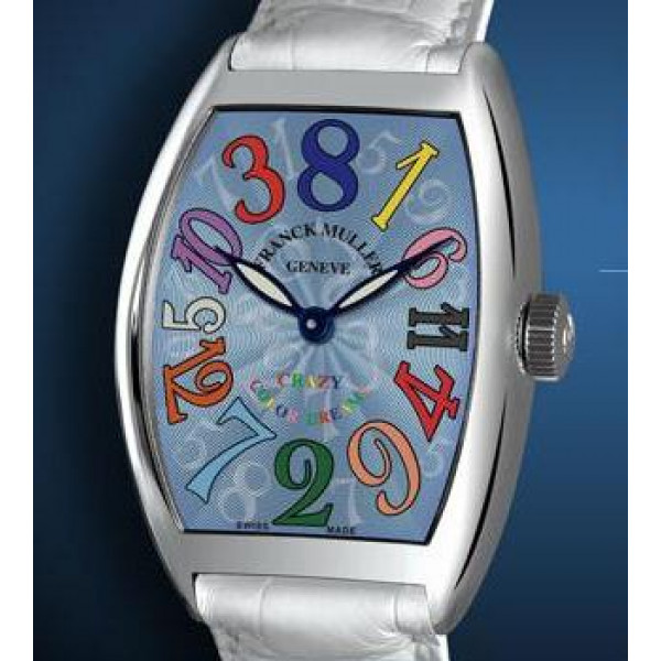 Franck Muller watches Crazy Hours Color Dreams Light Blue Dial