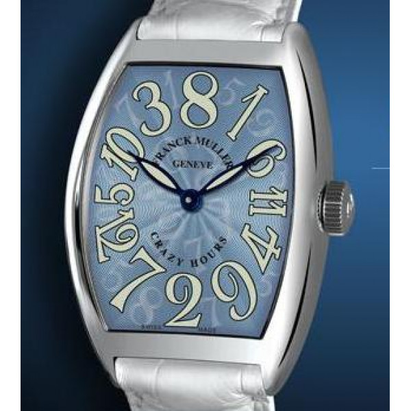 Franck Muller watches Crazy Hours Light Blue Dial