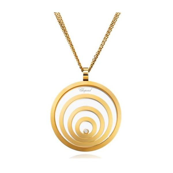 Chopard Happy Spirit 4 Circle 18K Yellow Gold Pendant Necklace