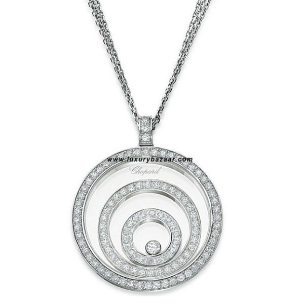 Chopard Happy Spirit 2 Floating Diamond Set Circles 7