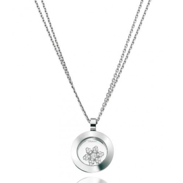 Chopard Happy Diamonds Snowflake 18K White Gold Pendant Necklace
