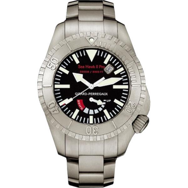 Girard Perregaux watches Sea Hawk II Pro 3000 (Titanium / Black / Titanium)