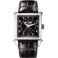 Girard Perregaux watches Vintage 1945 Square Triple Calendar ( SS / Black / Leather)