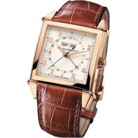 Girard Perregaux watches Vintage 1945 Square Triple Calendar ( RG / White / Leather)