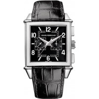 Girard Perregaux watches Vintage 1945 Square Chronograph( WG / Black / Leather)
