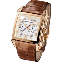 Girard Perregaux watches Vintage 1945 Square Chronograph (RG / White / Leather)