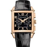 Girard Perregaux watches Vintage 1945 Square Chronograph (RG / Black / Leather)