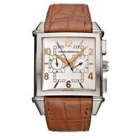 Girard Perregaux watches Vintage 1945 Square Chronograph ( WG / White / Leather)